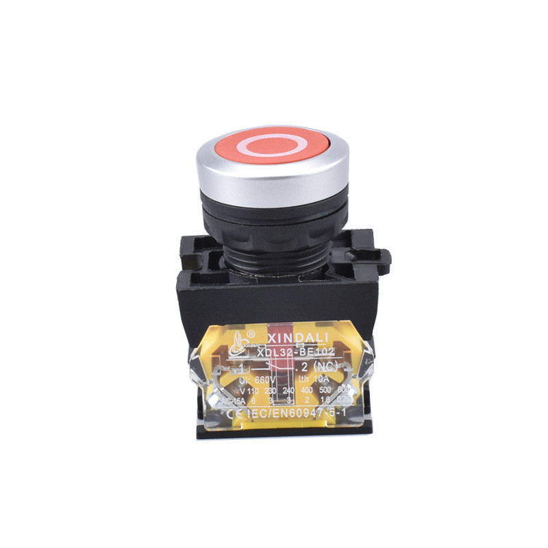 metal symbol industrial electric red flush pushbutton switch XDL32-CA4322