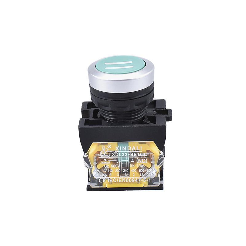 waterproof single flush button symbol metal push button switch XDL32-CA3361