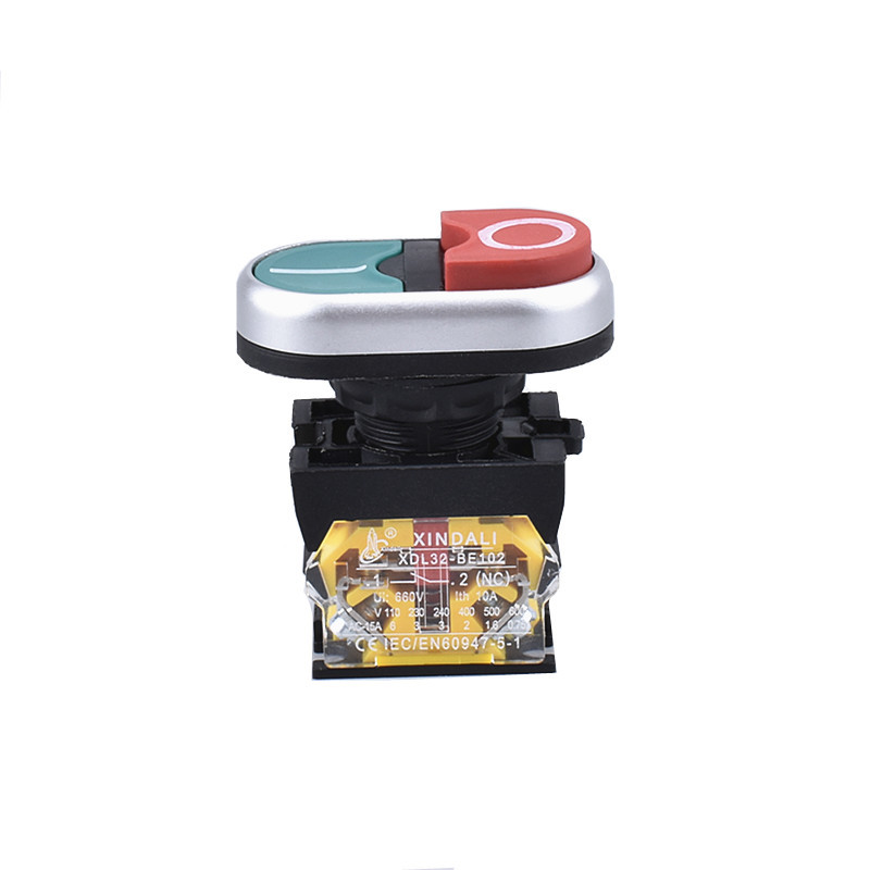 waterproof double control button switch turn on and off switch XDL32-CB8425