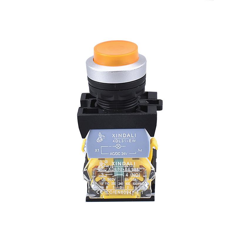 convex head indicator lamp metal push button switch XDL32-CWL3561