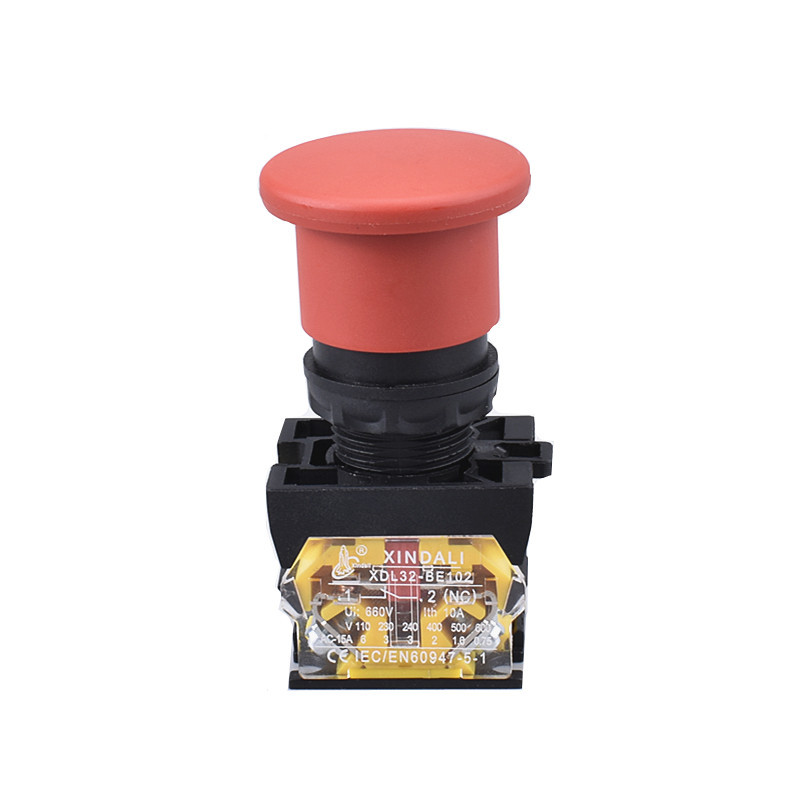 elevator red spring return mushroom electric push buttons XDL32-EC42