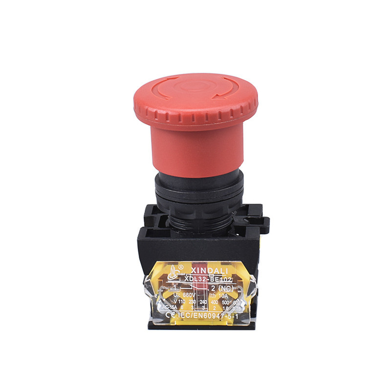 mushroom head emergency stop turn to release push button switch XDL32-ES542