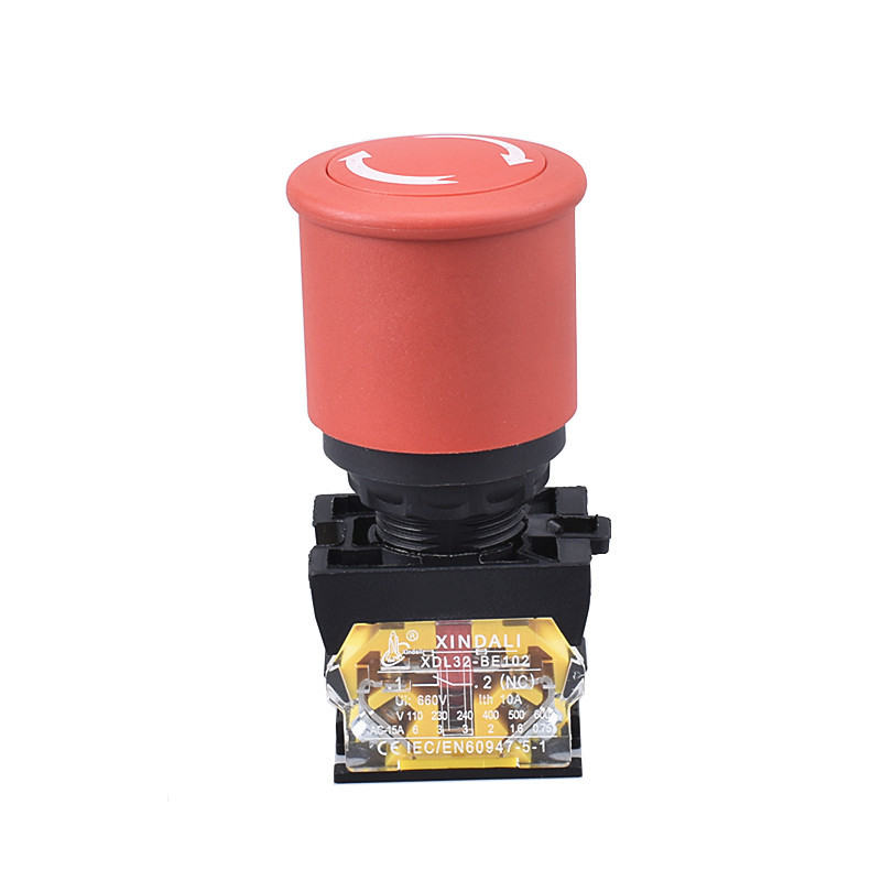 40mm mushroom head pushbutton emergency stop crane switch XDL32-ESC542