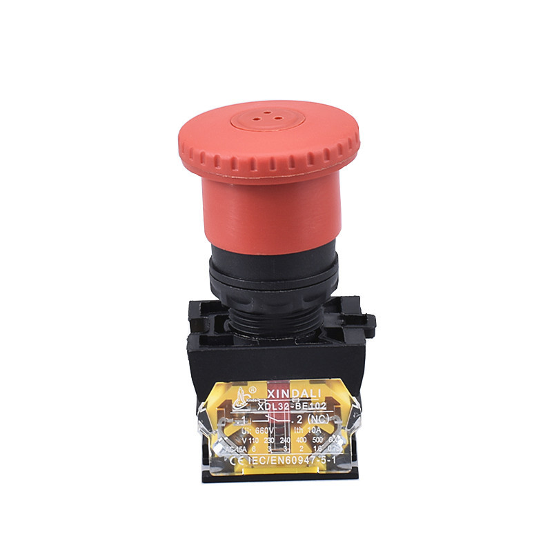40mm red mushroom head electric push pull button switch XDL32-ET42