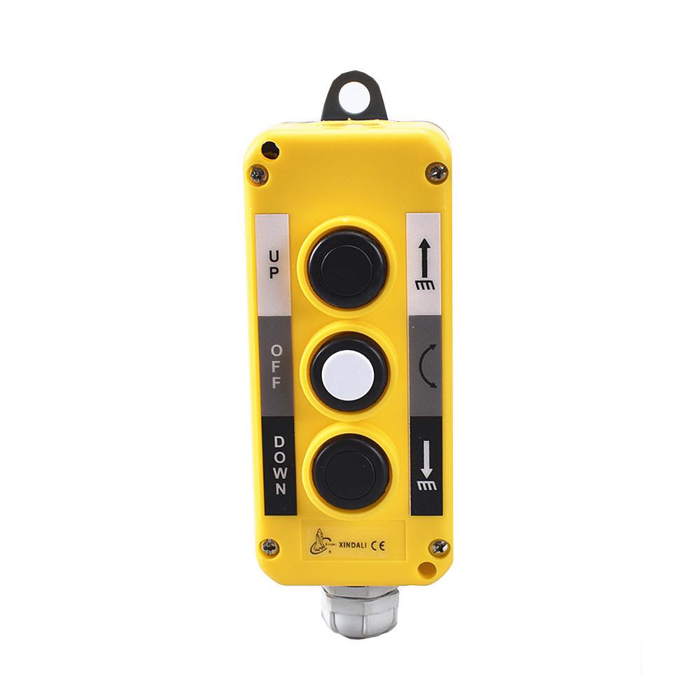 3 hole hoist flush indusitial push button control ip54 switch box XDL10-EPB3