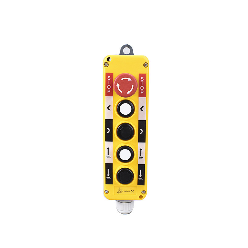 5 holes waterproof lifting control switch station lift push buttons box XDL10-EPBS5