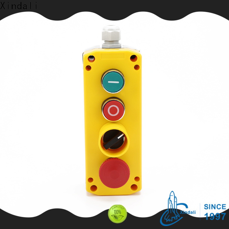Top start stop push button station vendor for lift device