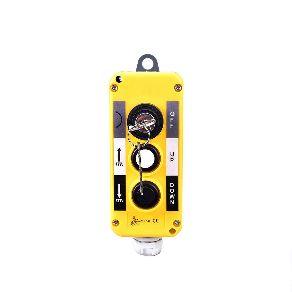 3 hole hoist key selector indusitial push button control ip54 switch box XDL10-EPBG3