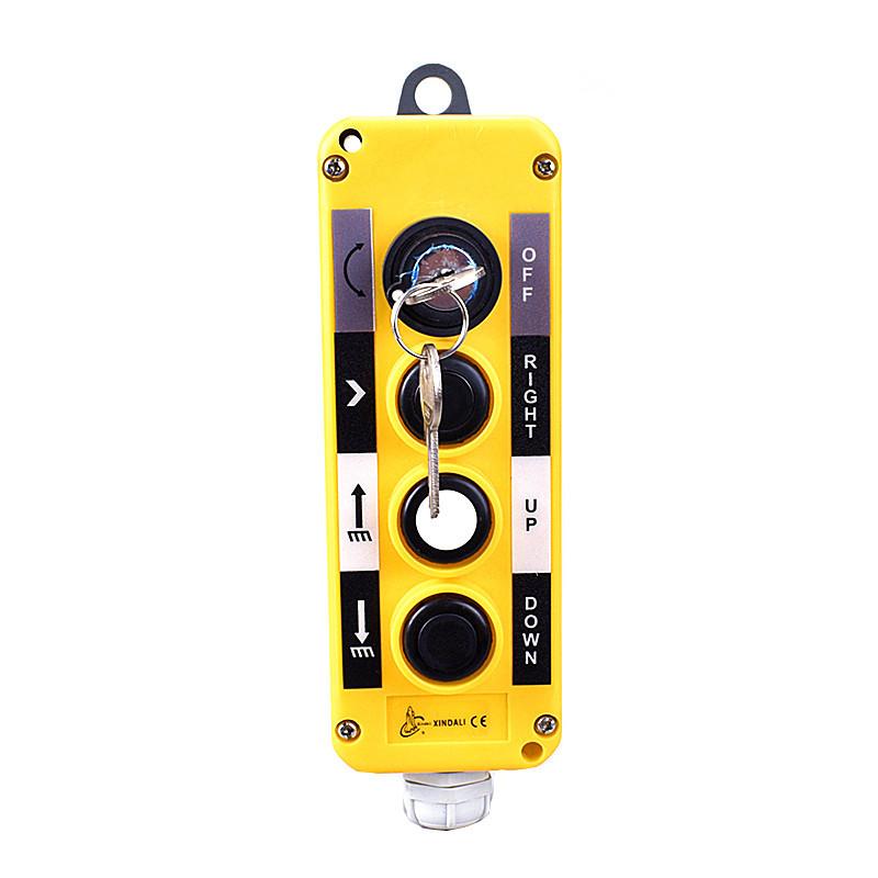 crane pendant control ip54 station 4 button key pendant control boxXDL10-EPBG4