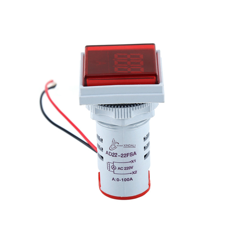 square mini indicator light lamp digital voltage meter voltmeter AD22-22FSA