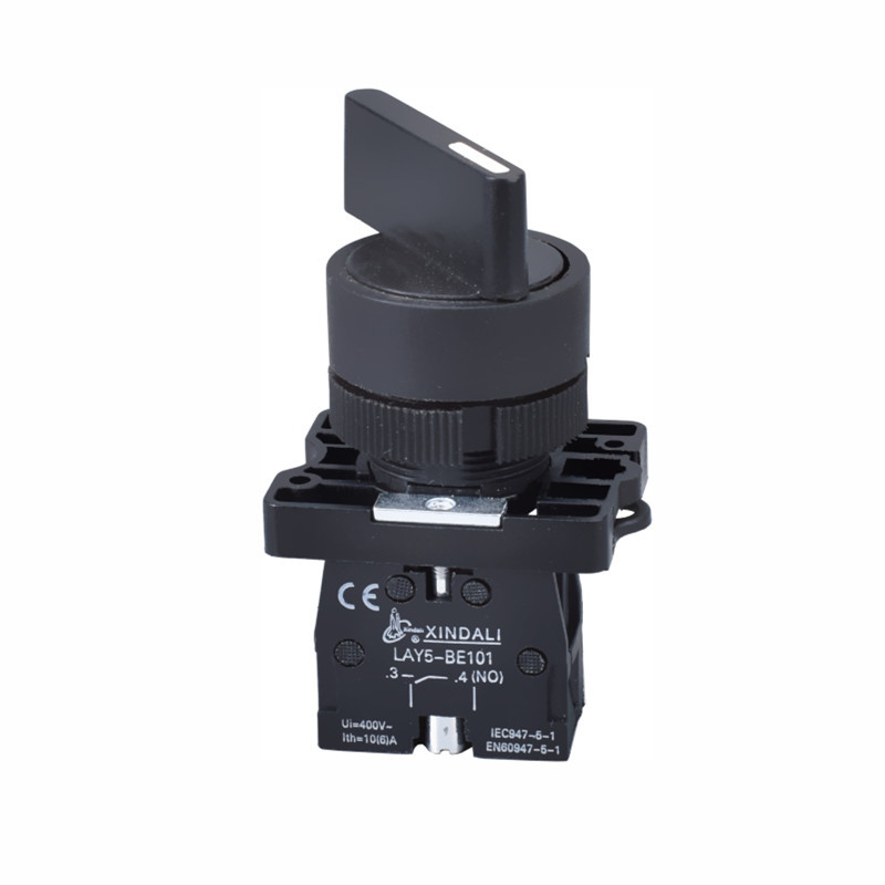 Selector de plástico Tres posiciones Latching 24 Volt Pulsador Interruptor Lay5-EJ21