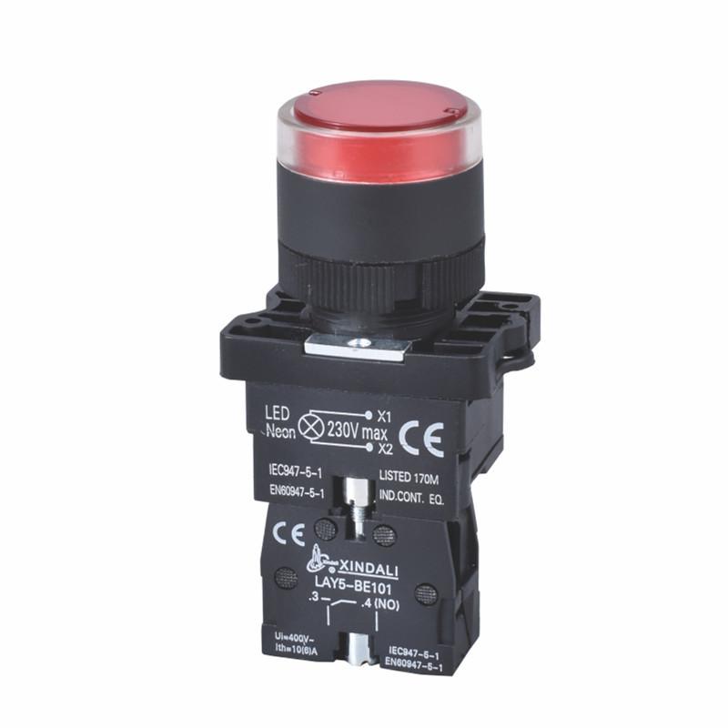 plastic push pull head indicator light switch push button LAY5-EW3472