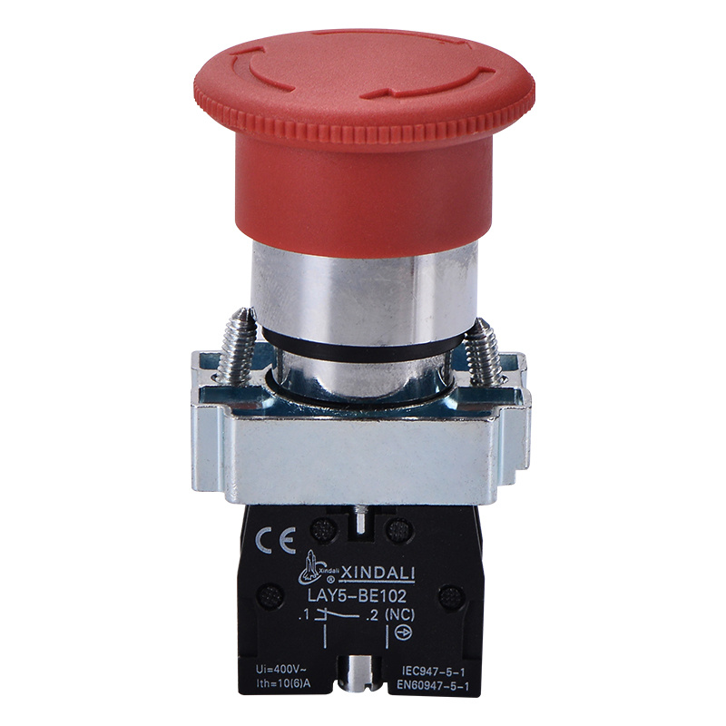 mushroom turn to release xb2 emergency stop switch push button LAY5-BS542