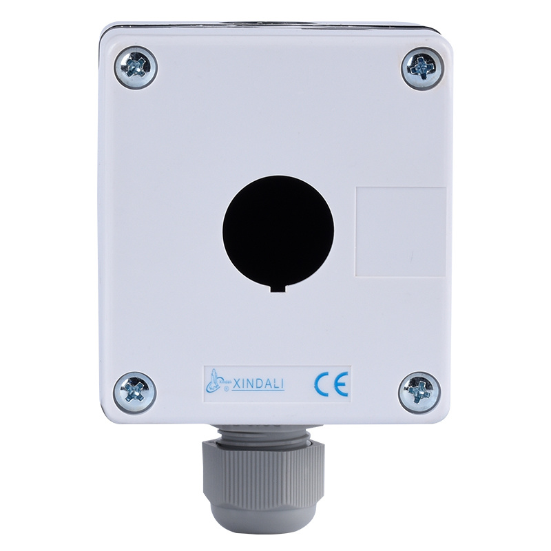 1 hole low voltage switch box plastic accessory white cable XDL5-B01P
