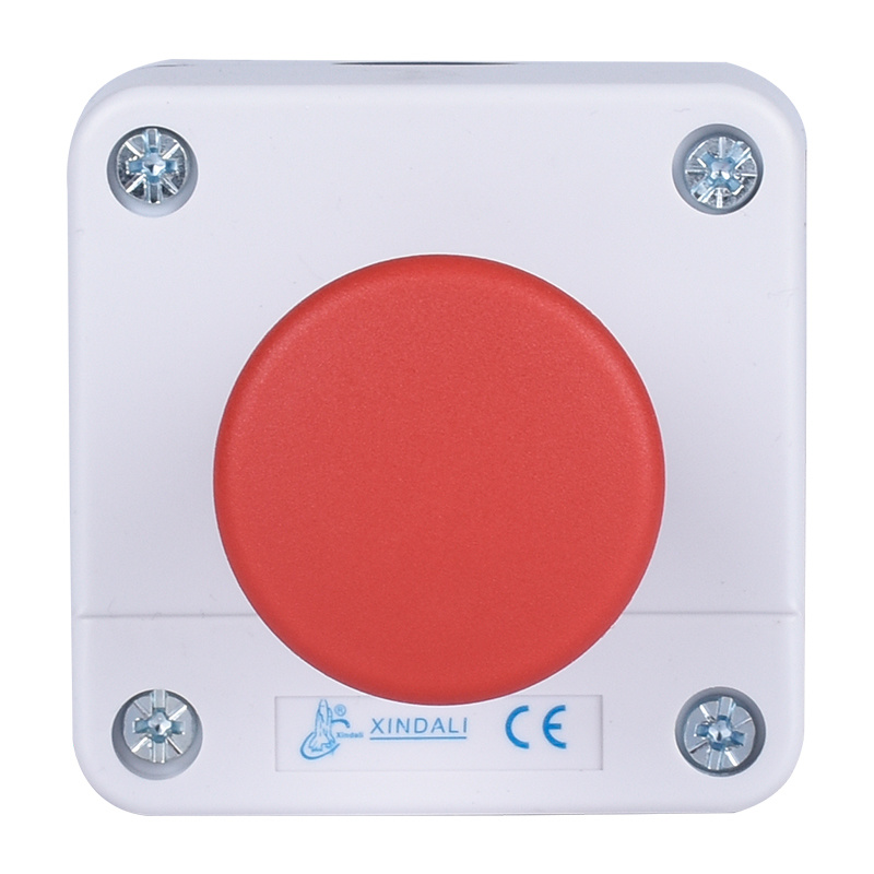 1 hole push button switch control box with emergency stop XDL55-B164