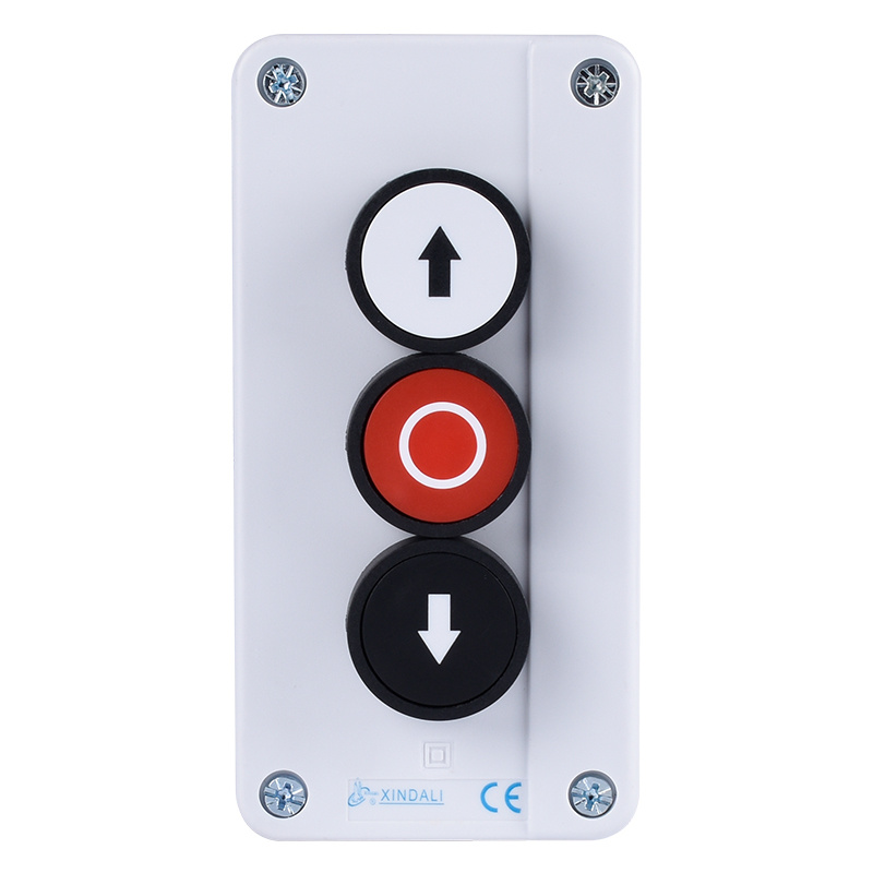 industrial hoist 3 flush push button switch control box XDL55-B334