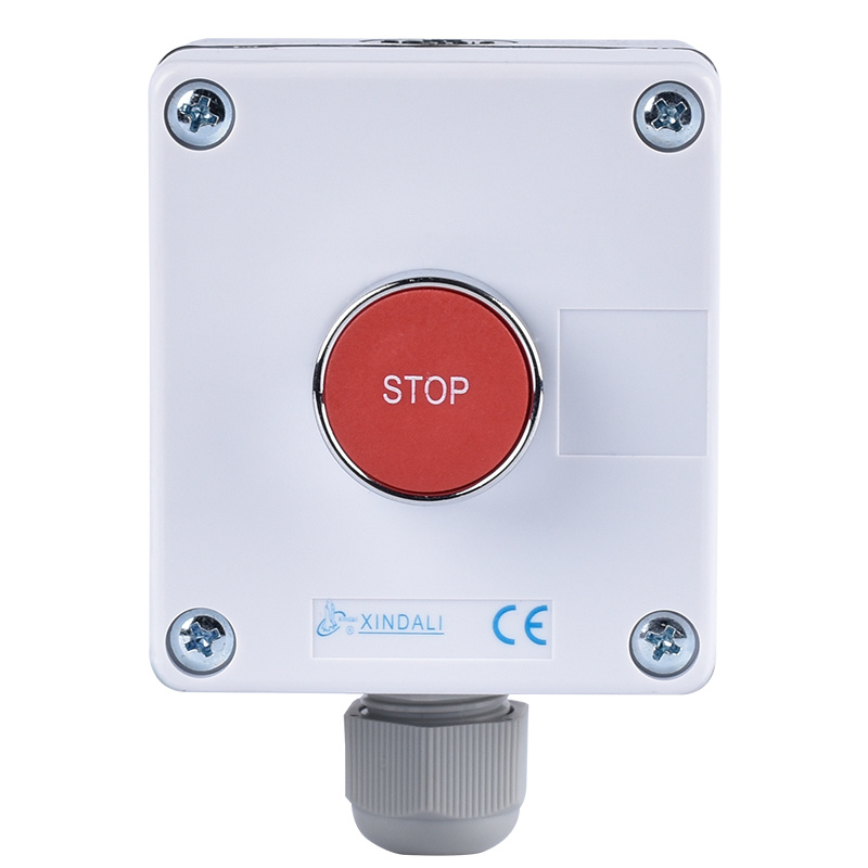 marked metal push button control station with single hole XDL55-BB114P