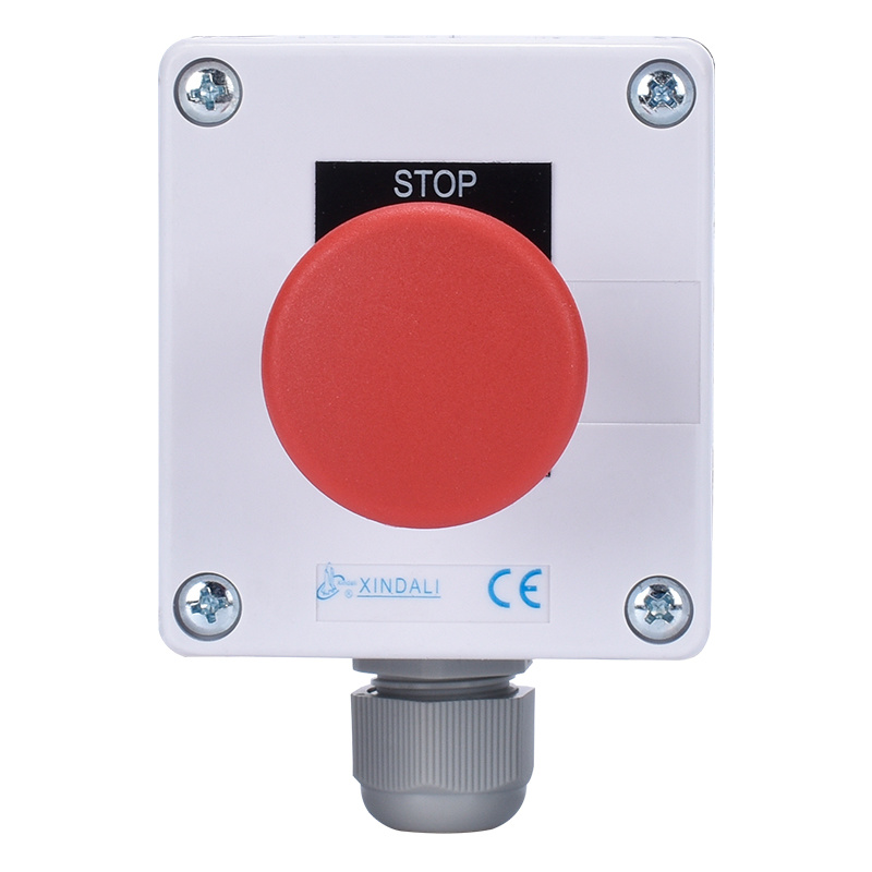 1 Hole Metal Push Button Switch Control Box With Emergency Stop XDL55-BB164PH29