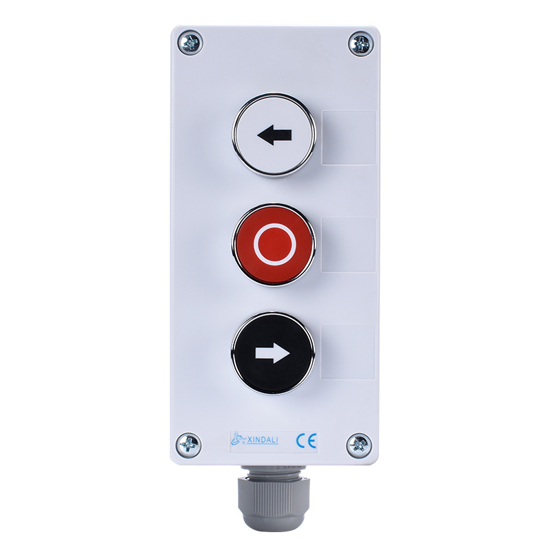 3 hole control station black and white arrow push button box XDL55-BB324P