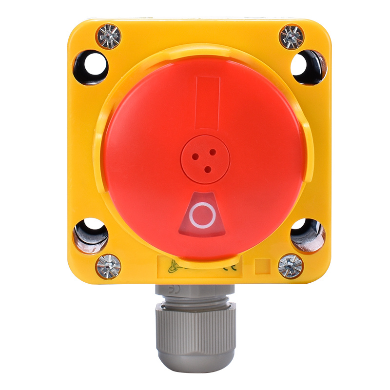 yellow color emergency stop switch box emergency stop push button switch box XDL75-JB181P