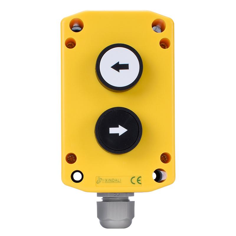 2 holes plastic up down waterproof push button switch box XDL75-JB222P