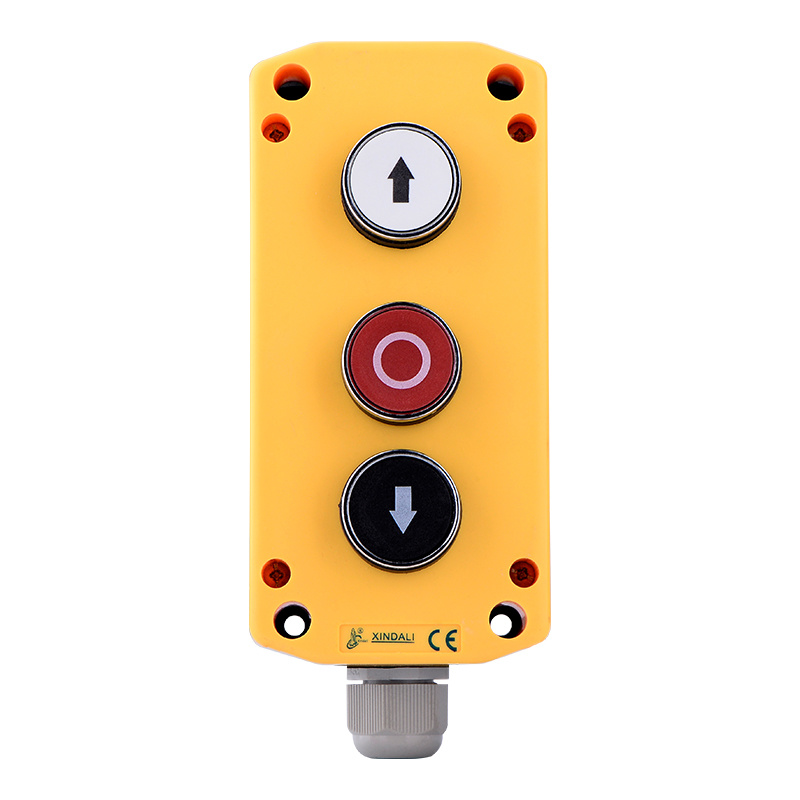3 holes ip65 pushbutton remote control box cable box XDL721-JB334P
