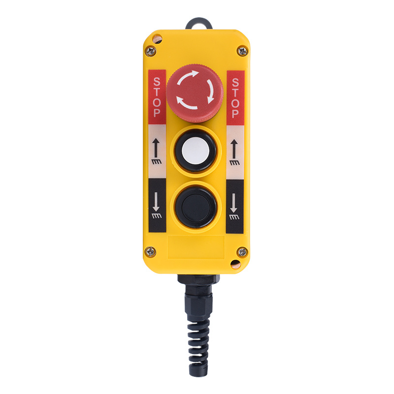 electric 3 button remote control circle push button switch box XDL10-EPBS322F