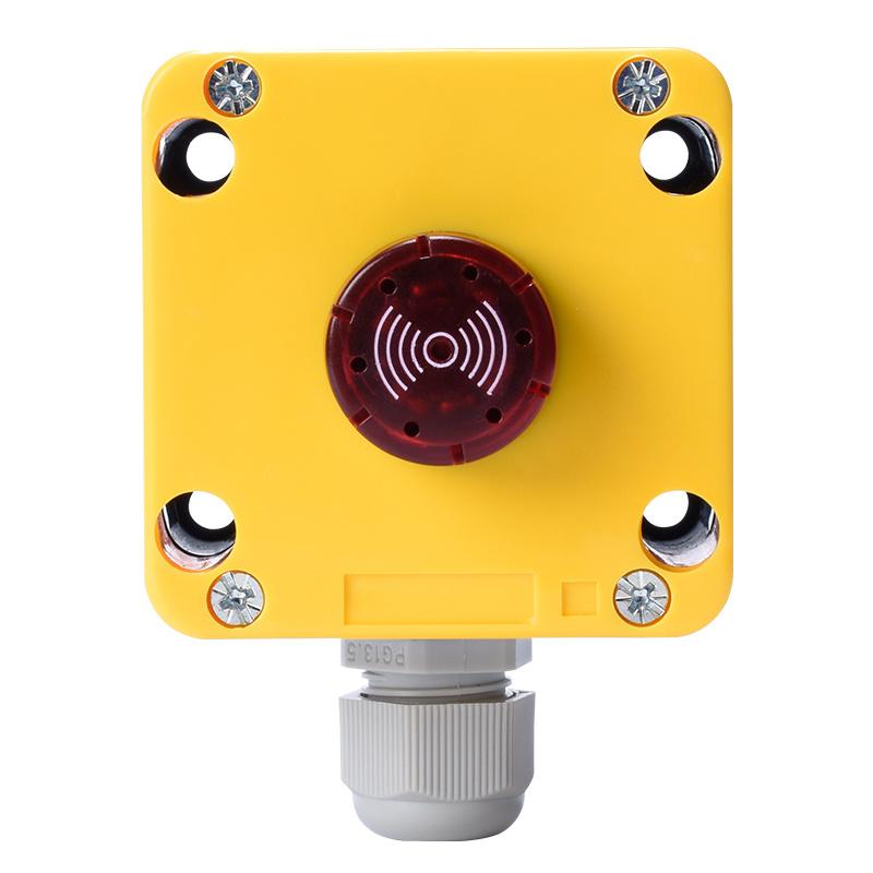 one hole plastic buzzer lamp electronic enclosures box making machine XDL72-JB1MSDP